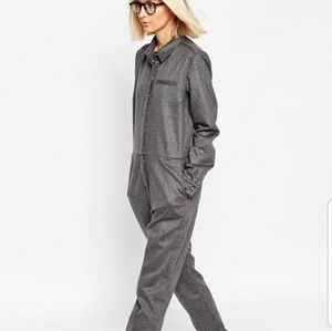 NWT Asos Gray Jumpsuit Size 4
